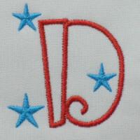 Matriz de bordado letra D