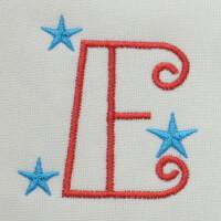 Matriz de bordado letra E