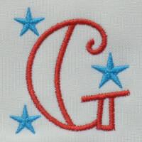 Matriz de bordado Letra G