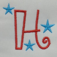 Matriz de bordado letra H