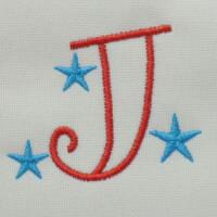 Matriz de bordado letra J