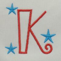 Matriz de bordado letra K