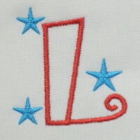 Matriz de bordado letra L