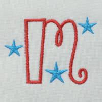 Matriz de bordado letra M