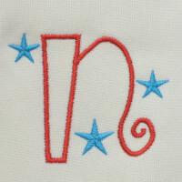 Matriz de bordado letra N