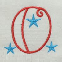 Matriz de bordado letra O