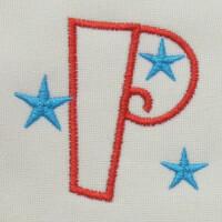 Matriz de bordado letra P