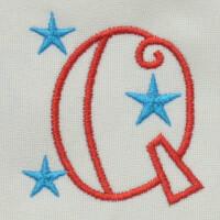 Matriz de bordado letra Q