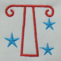 Matriz de bordado letra T