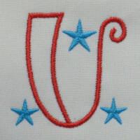 Matriz de bordado letra U