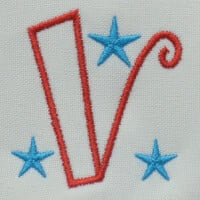 Matriz de bordado letra V