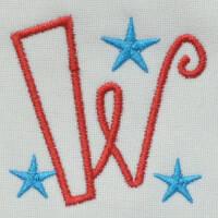 Matriz de bordado letra W
