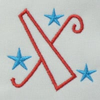 Matriz de bordado letra
