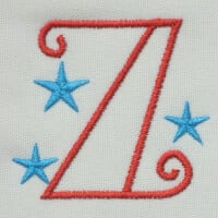 Matriz de bordado letra Z