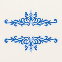 Matriz de bordado moldura monograma 168