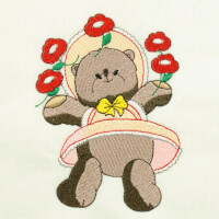 Matriz de bordado ursinho baby 6