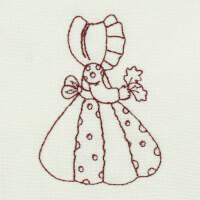 Matriz de bordado garotinha redwork 17