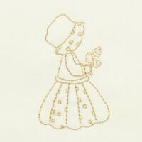 Matriz de bordado garotinha redwork 29