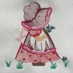 Matriz de bordado sunbonnet rippled 01