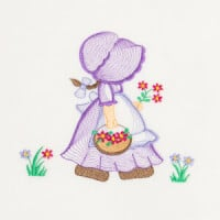 Matriz de bordado sunbonnet rippled 4