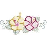 Matriz de bordado floral rippled 2