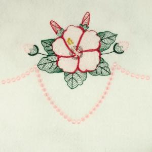 Matriz de bordado floral rippled 3