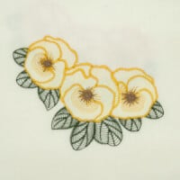 Matriz de bordado floral rippled 7