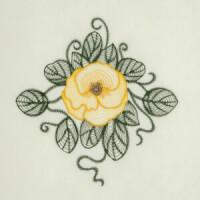 Matriz de bordado floral rippled 9