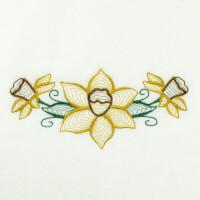 Matriz de bordado floral rippled 17