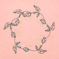 Matriz de bordado moldura floral 14