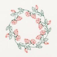 Matriz de bordado moldura floral 15
