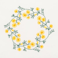 Matriz de bordado molduras florais 9