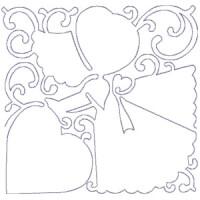 Matriz de bordado Quilting Menina 11