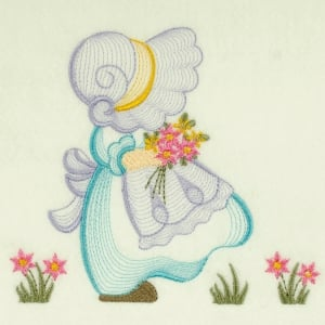 Matriz de bordado sunbonnet rippled 10