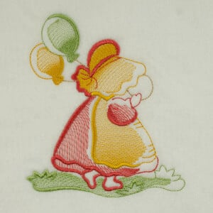 Matriz de bordado sunbonnet rippled 14