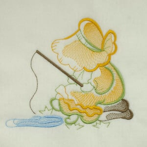 Matriz de bordado sunbonnet rippled 15