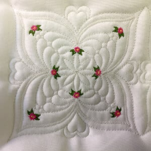 Matriz de bordado Quilting Floral 17