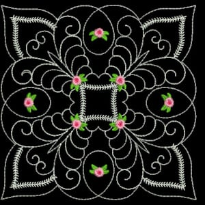 Matriz de bordado Quilting Floral 18