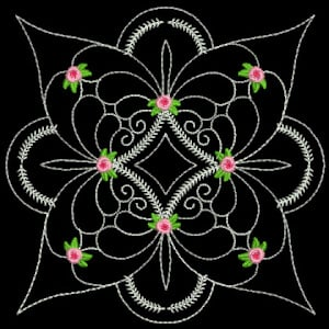 Quilting flower Embroidery Design