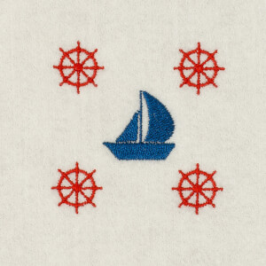 Nautical Embroidery Design