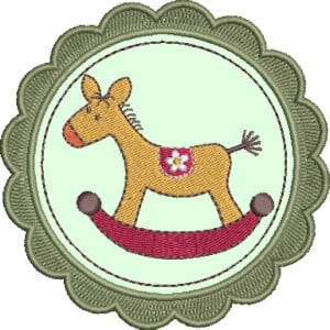 Infant applique Embroidery Design