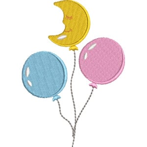 Air ballon Embroidery Design