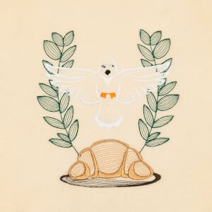 Holy supper Embroidery Design