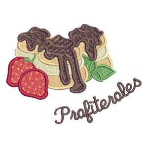 Matriz de bordado Profiteroles
