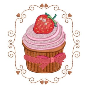 Matriz de bordado Cupcake 53