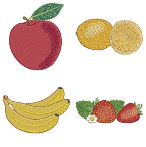 Fruits Embroidery Design Pack