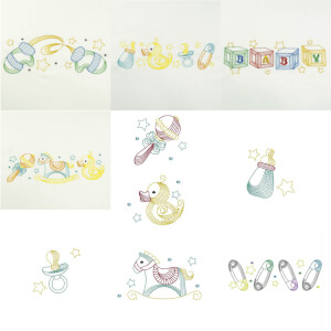 Baby Embroidery Design Pack