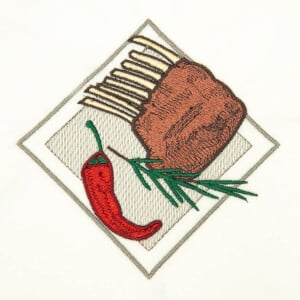 Food Embroidery Design