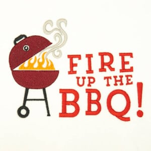 Barbecue Embroidery Design