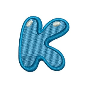Letter K Kids Embroidery Design
